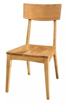 Amish Barlow Side Dining Chair Simple, solid wood comfort. No excess, just excellent. Build the Barlow in your choice of wood, stain and upholstery. Wood furniture from Amish country. #diningchairs