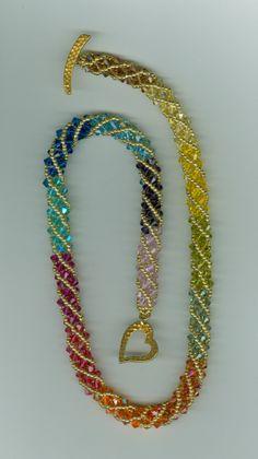 Swarovski Spiral Necklace by  Marcie Lynne
