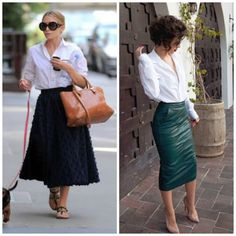 How to wear Midi Skirts (2)