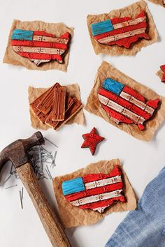 How to Make American Flag Cookies with a Video   The Bearfoot Baker