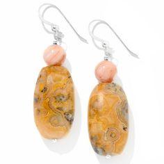 Jay King Australian Lace Agate Drop Earrings   HSN Price:$49.90  Appraised Value: $83.00