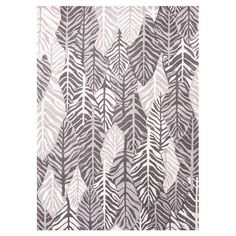 Hand-tufted wool rug with a layered leaf motif.   Product: RugConstruction Material: 100% WoolColor: