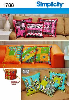 Patchwork Pillows Pattern Beginner Quilting Pattern by blue510