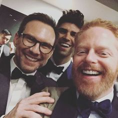 "30.3k Likes, 48 Comments - Jesse Tyler Ferguson (@jessetyler) on Instagram: ""With my buddy @realchristianslater after the Emmys! So excited for @ramimalek!"""