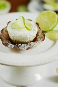 Coconut-Key Lime Pie Ice Cream Cups ~ As the song says ... you put the lime in the coconut!  |  www.thekitchenismyplayground.com  | #keylime #icecream #coconut