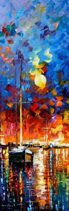 BURNING SKY 2 - PALETTE KNIFE Oil Painting On Canvas By Leonid Afremov - http://afremov.com/BURNING-SKY-2-PALETTE-KNIFE-Oil-Painting-On-Canvas-By-Leonid-Afremov-Size-14-x40.html?bid=1&partner=20921&utm_medium=/vpin&utm_campaign=v-ADD-YOUR&utm_source=s-vpin