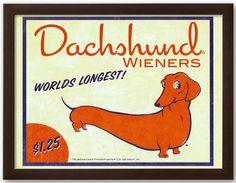 A dachshund-starring conversation-starter. #art #homedecor #Kohls