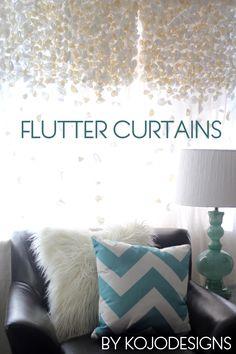 DIY flutter curtains tutorial (Anthropologie inspired) - from Kojo Designs