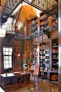 I'd love to have my own personal library, loving the atmosphere of this one :)