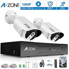 Cheap A-ZONE Security 4 Channel 1920P NVR HD 1080P IP PoE Security Camera System with 2 Outdoor / Indoor 3.6mm Fixed lens 2.0 Megapixel 1080P Cameras QR Code Easy Setup Free Remote View-1TB HDD White http://ift.tt/2E0iuxg