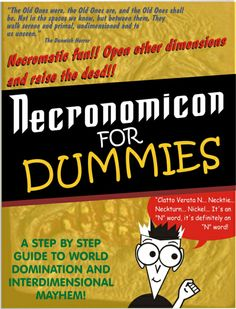 """So, I was doing a job that used some of this as an idea, and I looked up """"Necromomicon for dummies"""" but didn't find one, so. Necronomicon for Dummies Lovecraft Cthulhu, Hp Lovecraft, The Dunwich Horror, Mountains Of Madness, Horror Fiction, Call Of Cthulhu, Tumblr, Black Books, Old Ones"""