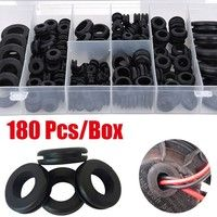 180 Pcs Black Rubber Grommet Assortment Set Plug Wire Ring Assortment Kit Electrical Gasket Tools Washers Seals Hardware Set Wish In 2020 Rubber Grommets Wire Rings Black Rubber
