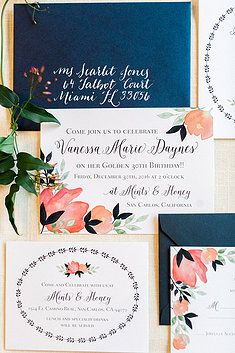 Lynn + Lou Paper Co | Watercolor Florals Invitation Suite. Inspired by spring florals and beautiful watercolor textures. This custom wedding invitation suite is a lush and fragrant work of art. Click through to find even more gorgeous wedding invitations!!