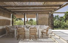 Pergola Shade Cover Ideas - Pergola Plans Step By Step Woodworking Projects - Free Standing Pergola Oasis Pergola Kits, Building A Pergola, Beach Cabin, Rustic Pergola, Pergola Designs, Exterior, Outdoor Spaces, Pergola Attached To House, Outdoor Living