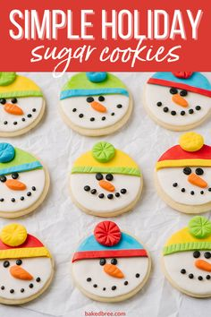It is almost dangerous how simple these cookies are. It makes it a bit too easy to make them on a whim, but I don't mind! Each batch also gives you a ton of cookies, making it easy for events. #sugarcookies #christmascookies #easysugarcookies #holidaycookies Easy Sugar Cookies, Roll Cookies, Sugar Cookies Recipe, Cookie Recipes, Holiday Cookies, Holiday Treats, Christmas Treats, Christmas Recipes, Kids Cooking Recipes