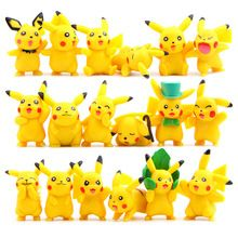18pcs/lot Kawaii Pikachu Toys 3-6cm Pocket Monster Pikachu Mini PVC Action Figures Toys Doll Collection Model Christmas Toys(China)