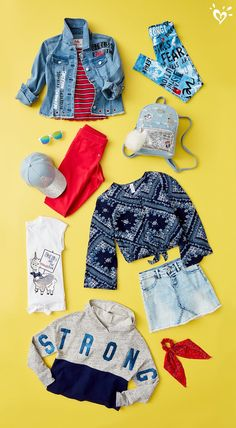 Layer up! So many ways to build the perfect outfit. Kids Outfits Girls, Cute Girl Outfits, Girls Fashion Clothes, Tween Fashion, Sporty Outfits, Cute Outfits For Kids, Teen Fashion Outfits, Justice Girls Clothes, Justice Clothing