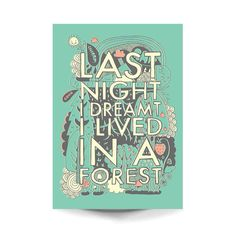 A3 Art Print 'Last night I dreamt I lived in a por stephsayshello