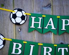 Soccer Birthday Party Banner Sports Banner by Cutiepiepartyshoptoo Soccer Birthday Parties, Football Birthday, Sports Birthday, Soccer Party, Birthday Party Themes, Birthday Stuff, Birthday Ideas, Happy Birthday Banners, Birthday Decorations
