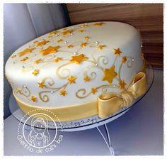CHEIRINHO DE COISA BOA - Bolos decorados em Campinas SP: Bolo Estrelas douradas
