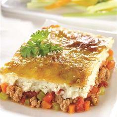 Pâté étagé au chou-fleur Keto Recipes, Cooking Recipes, One Pot Dishes, Lasagna, Veggies, Food And Drink, Low Carb, Nutrition, Lunch