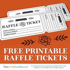 Printable Rosy Raffle Tickets Free Template Printables Online