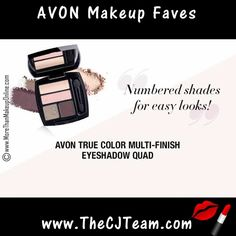 Shop Avon top rated products with our Fan Faves!  Shop the Avon products consistently ranked highest by our most valued beauty expert – YOU!  See what the hype's about.  This week's favorites include Avon True Color Glimmersticks, Multi-Finish Eyeshadow Quads, Glazewear Lip Gloss and Avon Moisturizing Eye Makeup Remover! Free shipping w/ $40 or more.  #TrueColor #Anew #AvonMakeup #FanFaves #AvonFanFaves #FanFavorites #CJTeam #FreeShipping #C12 Shop Avon Fan Favorites @ www.TheCJTeam.com