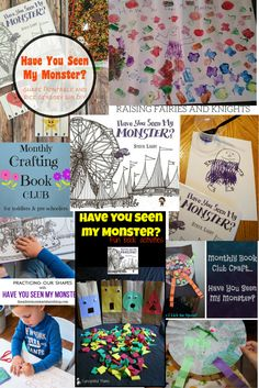 The Monthly Crafting Book Club for November is covering Have You Seen My Monster, a great book to reinforce colours & teach shapes to kids. Preschool Ideas, Activities For Kids, Book Crafts, Crafts For Kids, Monster Shapes, Teaching Shapes, Messy Art, Blog Love, Monster Party