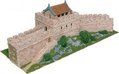 Maqueta de piedrecitas de la muralla China