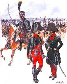"""""""Napoleon's Guards of Honour, 1813-14""""   • Officer, full dress • Officer, undress • Officer, barracks dress"""
