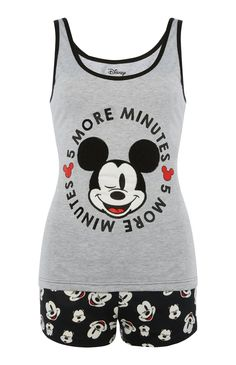 Shortama met Mickey Mouse-print