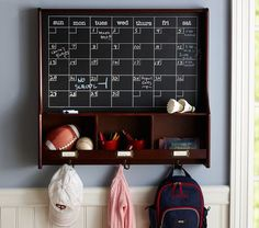 Organization area--- perfect to keep track of all the kids fun and their stuff