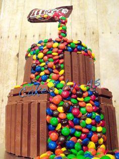 This is Awesome !! Gravity-defying M&M Vanilla Birthday Cake