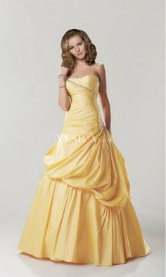 Stunning Ball Gown Strapless Sweetheart Empire Floor-Length Long Evening Prom Dresses
