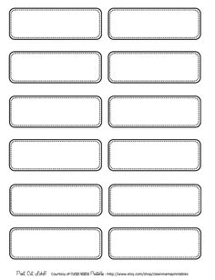 Simple blank printable labels