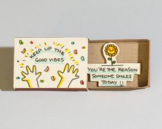Cute Encouragement Card / Friendship Card / by shop3xu on Etsy