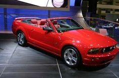 2005 Ford Mustang GT Red Convertible