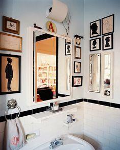 Kunstwerke Silhouette-Wandbilder Deko-für kleines-Bad