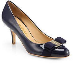 d9f3bec81787b Salvatore Ferragamo Carla Patent Leather Bow Pumps Leather Bow, Patent  Leather, Leather Shoes,