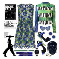 """""""Night Fall"""" by loves-elephants ❤ liked on Polyvore featuring P.A.R.O.S.H., Gucci, Moschino, STELLA McCARTNEY, Loungefly, By Terry, jane, Pamela Love and Olivia Burton"""