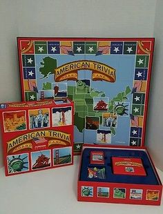American Trivia: Junior Edition Board Game School Tools Ages 9 & Up