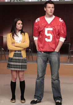 Rachel and Finn on 'Glee'. They always manage to sing their way into our hearts.