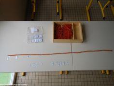 Dans ma classe : materiel Montessori en maths - chaîne de 100 et de 1000| Bout de chou en éveil