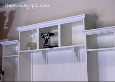 Mudroom Built Ins from Ikea Bookcases for $300