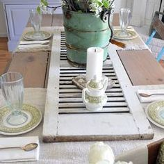 Old Shudder for decor, LOVING this idea!!