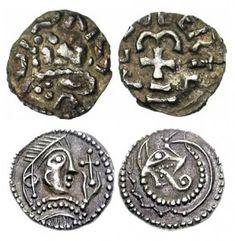 009 MEROVINGIENS, AR denier, vers 670-750,Anglo-Saxons, Secondary Sceattas. Circa 720-740.