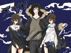 durarara   Tags: Anime, DURARARA!!, Orihara Kururi, Orihara Mairu, Orihara Izaya ...