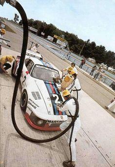 Porsche Pit- I was here, under the Dunlop sign- start / finish line- Watkins Glen. Porsche Motorsport, Porsche 935, Porsche Cars, Porsche 919 Hybrid, Jacky, Classic Race Cars, Martini Racing, Ferdinand Porsche, Vintage Porsche