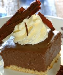 Chocolate milk tart ~Stork