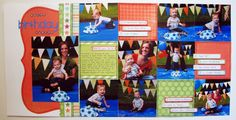 Happy Birthday Sawyer by Melissa Bell for Sketch Support Scrapbook Page Layouts, Scrapbook Pages, Scrapbooking Ideas, Melissa Bell, Birthday Scrapbook, Multi Photo, First Birthdays, Happy Birthday, Sketch